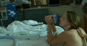 With nitrous oxide delivery mask at UCSF hospital in 2009.